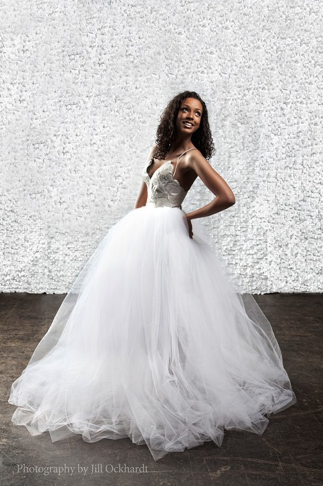 Leather Circle and Tulle Wedding Dress (Side) | Willi Nilil by ...